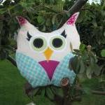 Colourful Owl Cushion